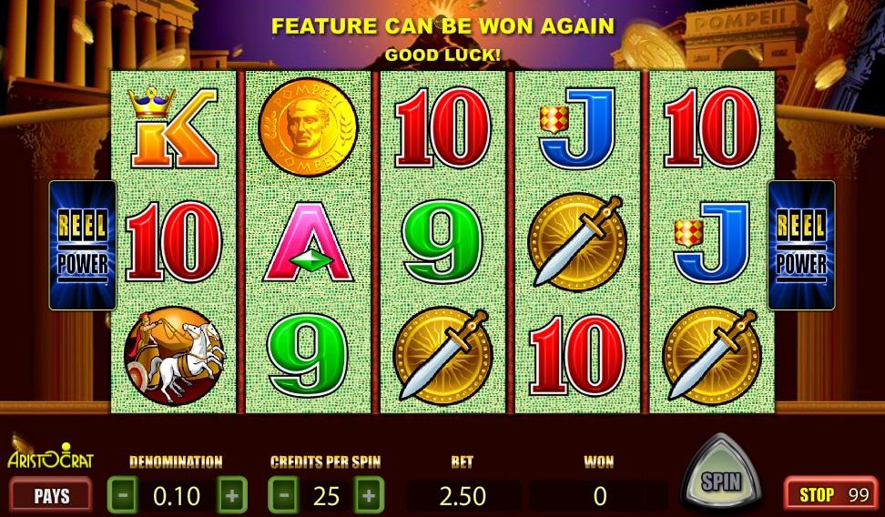 Free pompeii slot machine online